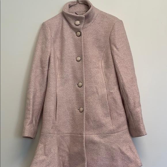 Kensie pink pea coat sz small